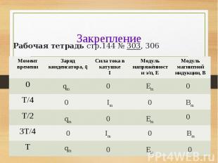 Рабочая тетрадь стр.144 № 303, 306 Рабочая тетрадь стр.144 № 303, 306