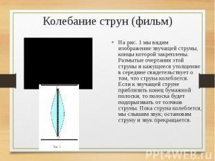 На рис. 1 мы видим изображение звучащей струны, концы которой закреплены. Размыт