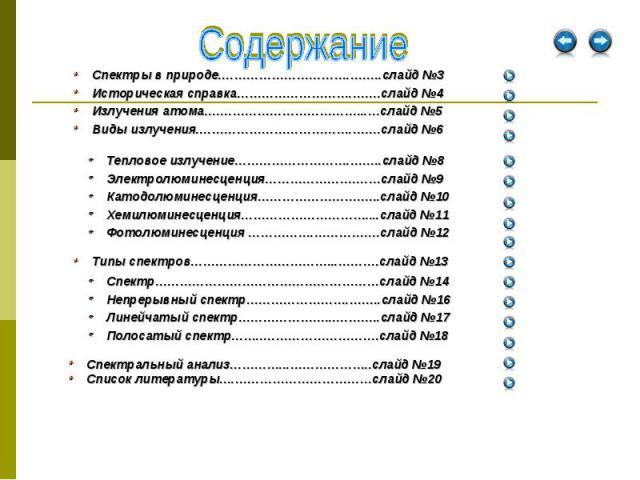 Спектральный анализ…………...………………..слайд №19 Спектральный анализ…………...………………..слайд №19 Список литературы….……………………………слайд №20