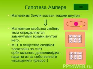 Магнетизм Земли вызван токами внутри Магнетизм Земли вызван токами внутри