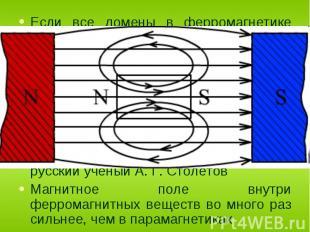 Если все домены в ферромагнетике перемагнитятся в направлении внешнего поля, то