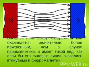 Ферромагнитными веществами или ферромагнетиками являются вещества, магнитная про