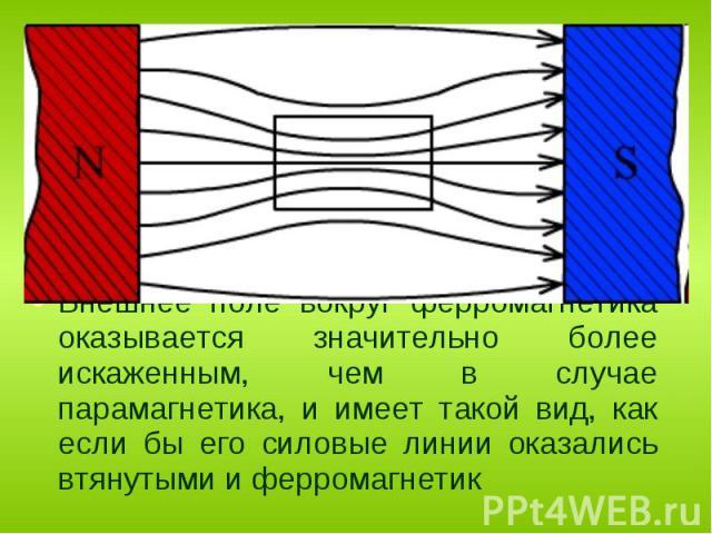 Ферромагнитными веществами или ферромагнетиками являются вещества, магнитная проницаемость которых значительно превышает единицу, μ >> 1 (например, для чистого железа μ = 104) от 5000 (для Fe) до 800 000 (для супермаллоя). Ферромагнитными веще…