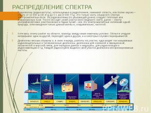 Радиоволны (радиочастоты), используемые в радиотехнике, занимают область, или бо