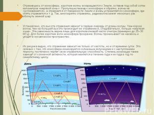 Отразившись от ионосферы, короткие волны возвращаются к Земле, оставив под собой