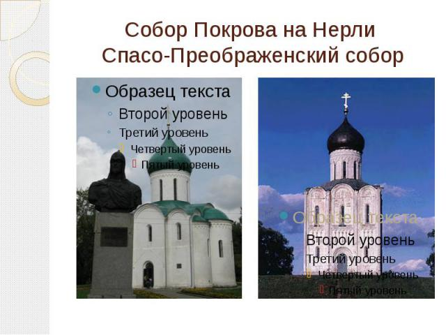 Собор Покрова на Нерли Спасо-Преображенский собор