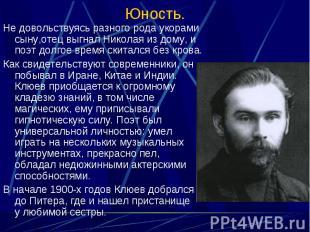 Не довольствуясь разного рода укорами сыну,отец выгнал Николая из дому, и поэт д