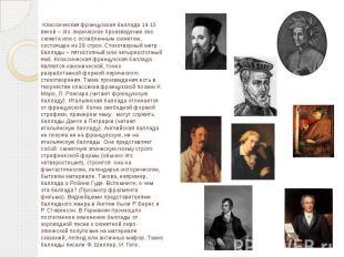 Классическая французская баллада 14-15 веков – это лирическое произведение без с