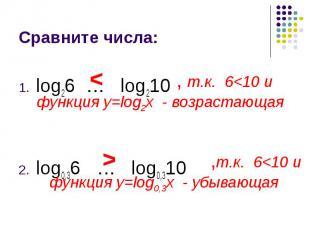 log26 … log210 log26 … log210 log0,36 … log0,310