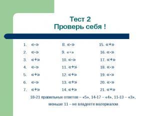 «-» 8. «-» 15. «+» «-» 8. «-» 15. «+» «-» 9. «+» 16. «-» «+» 10. «-» 17. «+» «-»