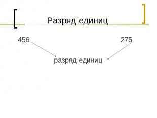 456 275 456 275 разряд единиц