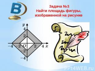 Задача №3 Найти площадь фигуры, изображенной на рисунке