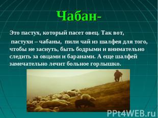 Это пастух, который пасет овец. Так вот, Это пастух, который пасет овец. Так вот