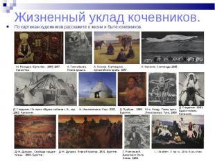 По картинам художников расскажите о жизни и быте кочевников. По картинам художни