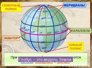 Линии, расположенные горизонтально, называются параллелями. Эти линии разные по