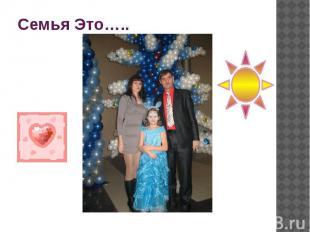 Семья Это…..