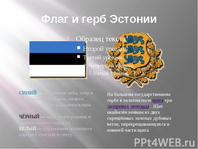 Флаг и герб Эстонии