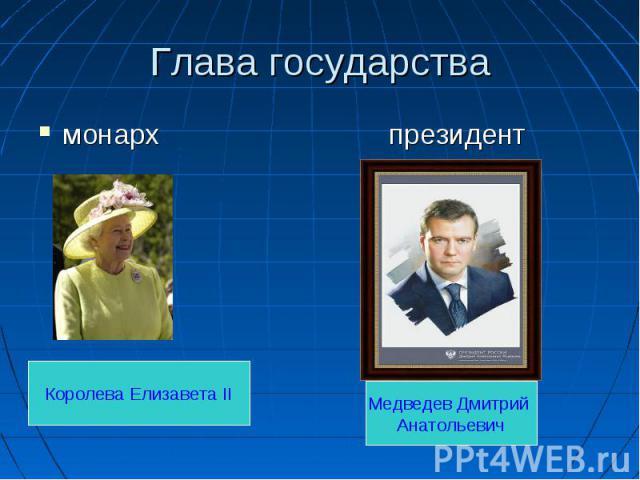 монарх президент монарх президент