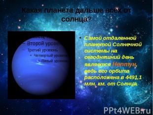 Какая планета дальше всех от солнца? Самойотдаленной планетой Солнечной си