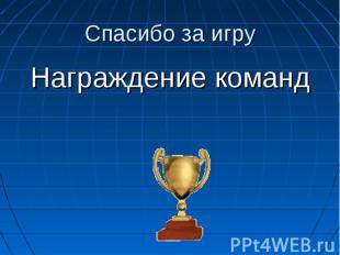 Награждение команд Награждение команд