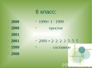 2000 2000 2000 2001 2001 1999 2000