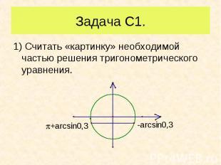 1) Считать «картинку» необходимой частью решения тригонометрического уравнения.