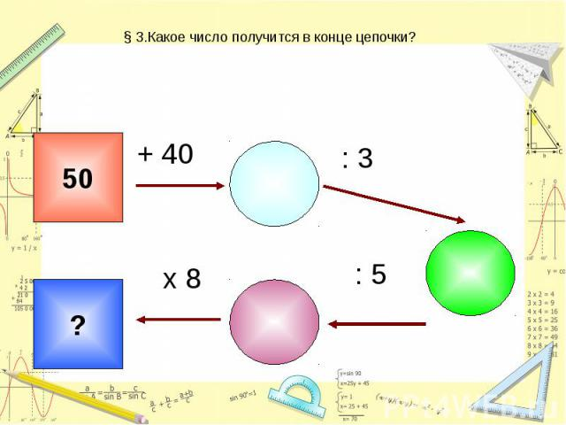 § 3.Какое число получится в конце цепочки?