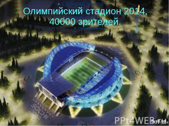 Олимпийский стадион 2014, 40000 зрителей.