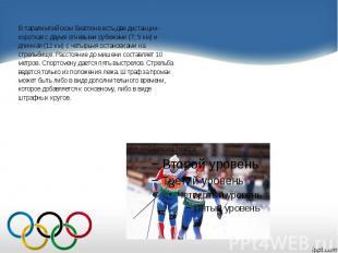 В паралимпийском биатлоне есть две дистанции- В паралимпийском биатлоне есть две