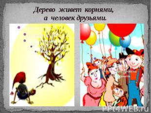Дерево живет корнями, а человек друзьями.