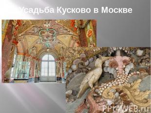 Усадьба Кусково в Москве