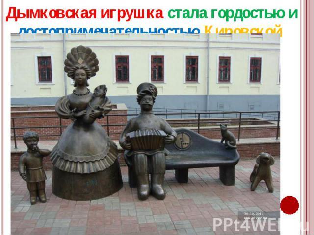 Дымковская игрушка стала гордостью и достопримечательностью Кировской области. Дымковская игрушка стала гордостью и достопримечательностью Кировской области.