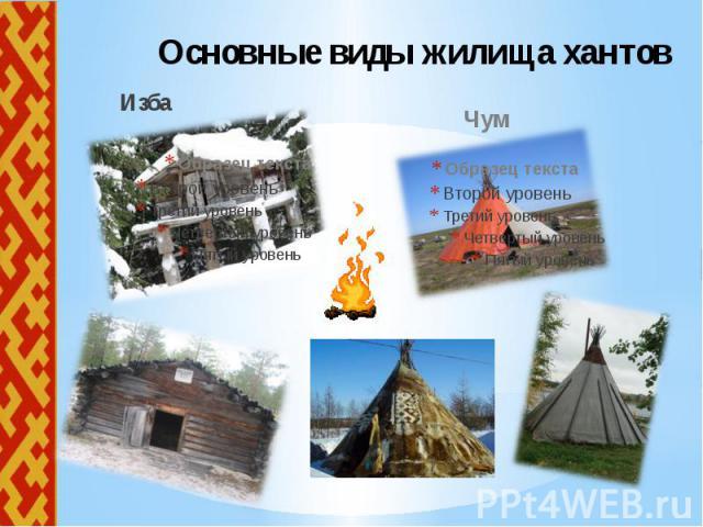 Основные виды жилища хантов Изба