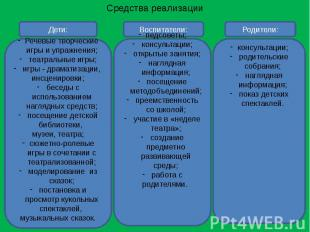 Средства реализации