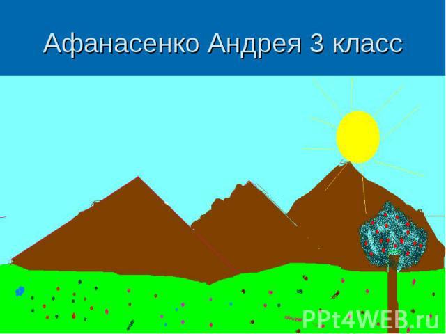 Афанасенко Андрея 3 класс