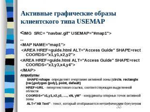 """Активные графические образы клиентского типа USEMAP <IMG SRC= """"navbar.gi"""