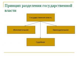 Принцип разделения государственной власти