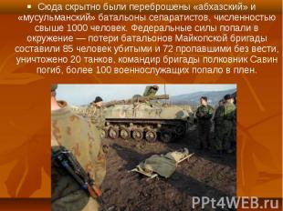 Сюда скрытно были переброшены «абхазский» и «мусульманский» батальоны сепаратист