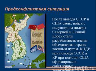 Предконфликтная ситуация После вывода СССР и США своих войск с полуострова лидер