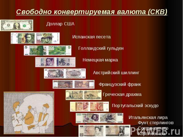 Свободно конвертируемая валюта (СКВ)