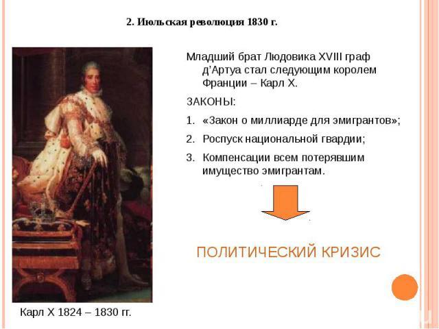 2. Июльская революция 1830 г.