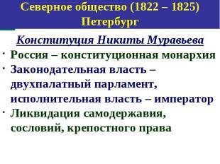 Конституция Никиты Муравьева Конституция Никиты Муравьева Россия – конституционн