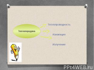 Теплопроводность Конвекция Излучение