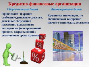 Кредитно-финансовые организации