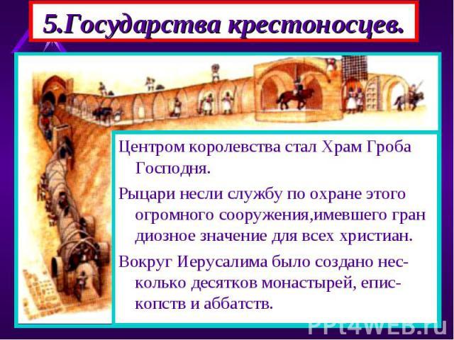 На восточном побережье Средиземного моря образовались государства крес-тоносцев.В Иерусалимском королевст-ве рыцари закабаляли и мусульман и христиан. На восточном побережье Средиземного моря образовались государства крес-тоносцев.В Иерусалимском ко…