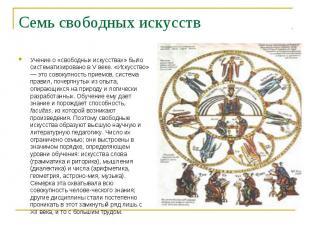 Учение о «свободных искусствах» было систематизировано в V веке. «Искусство» — э