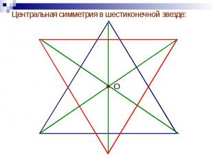 Центральная симметрия в шестиконечной звезде: Центральная симметрия в шестиконеч