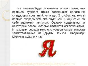 Не лишним будет упомянуть о том факте, что правила русского языка запрещают напи
