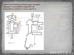 . К — спальни, расположенные вдоль крытой галереи и сообщающиеся с хором; R — тр