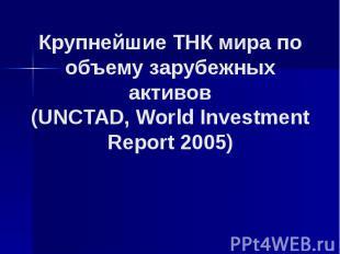 Крупнейшие ТНК мира по объему зарубежных активов (UNCTAD, World Investment Repor